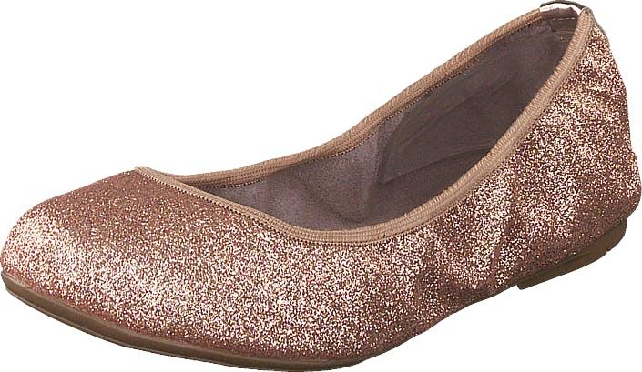 Butterfly Twists Sophia Champagne Glitter, Kengät, Matalat kengät, Ballerinat, Ruskea, Vaaleanpunainen, Naiset, 42