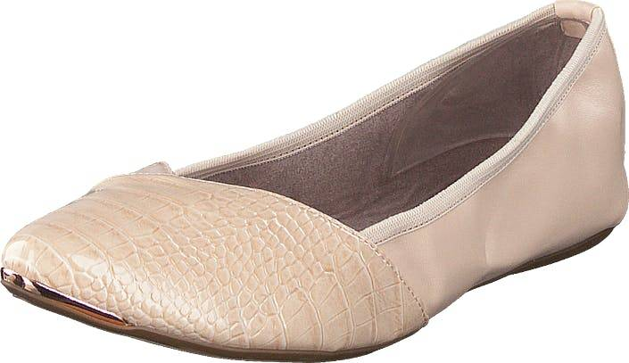 Butterfly Twists Ivy Nude Pateent Croc, Kengät, Matalat kengät, Ballerinat, Beige, Naiset, 36