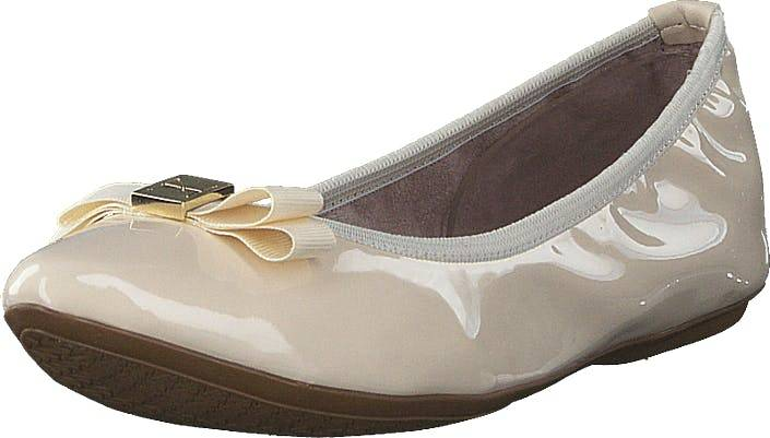 Butterfly Twists Jasmine Cream Patent, Kengät, Matalat kengät, Ballerinat, Beige, Naiset, 41