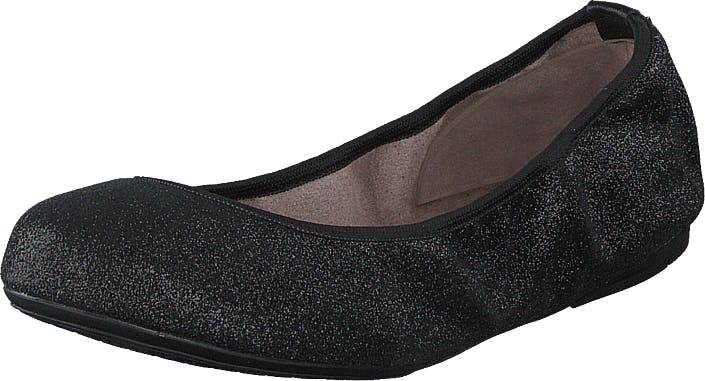 Butterfly Twists Sophia Black Glitter, Kengät, Matalat kengät, Ballerinat, Musta, Naiset, 37