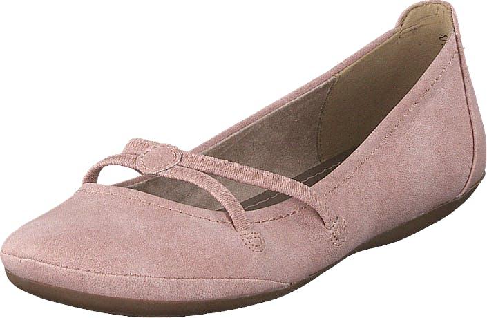 Image of Tamaris 1-1-22110-24 Rose, Kengät, Matalat kengät, Ballerinat, Vaaleanpunainen, Naiset, 36