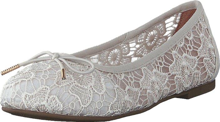 Image of Tamaris 1-1-22111-24 Ivory Macramee, Kengät, Matalat kengät, Ballerinat, Harmaa, Naiset, 37