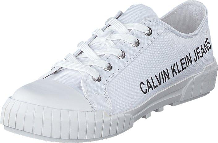 Image of Calvin Klein Jeans Biony Bright White, Kengät, Sneakerit ja urheilukengät, Varrettomat tennarit, Valkoinen, Naiset, 40