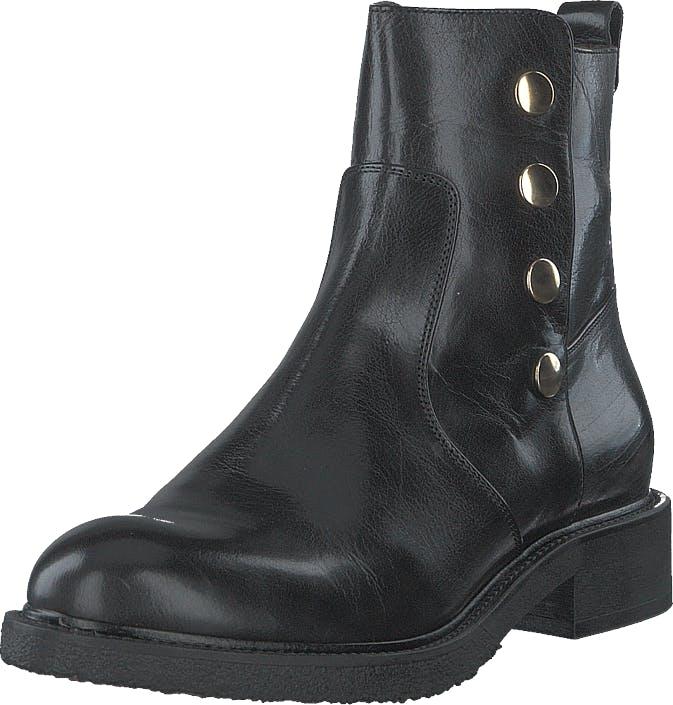 Billi Bi 3526-602 Black Buffalo Gold, Kengät, Bootsit, Chelsea boots, Musta, Kulta, Harmaa, Naiset, 40