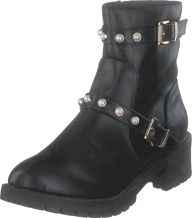 Bianco Biapearl Fashion Boot Black, Kengät, Bootsit, Korkeavartiset bootsit, Musta, Naiset, 38
