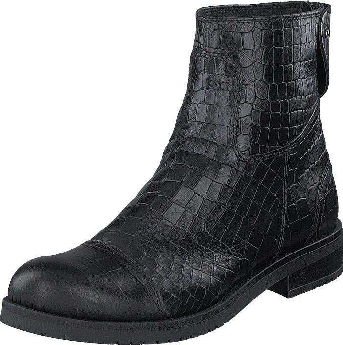 Ilse Jacobsen Lena6535 001 Black, Kengät, Bootsit, Korkeavartiset bootsit, Musta, Naiset, 38