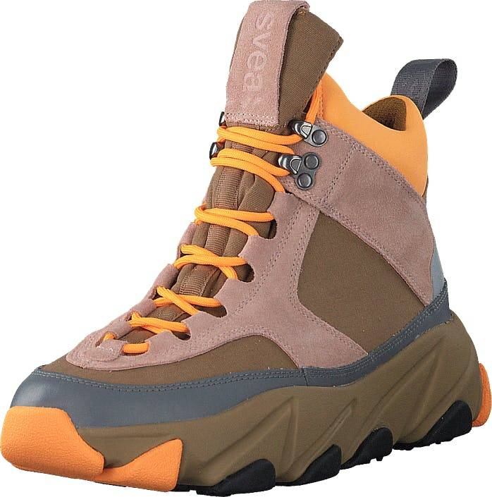 Svea Fire Sneaker Boots Scallop, Kengät, Bootsit, Vaelluskengät, Ruskea, Harmaa, Vaaleanpunainen, Naiset, 36