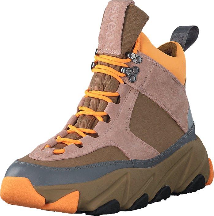 Svea Fire Sneaker Boots Scallop, Kengät, Bootsit, Vaelluskengät, Ruskea, Harmaa, Vaaleanpunainen, Naiset, 38