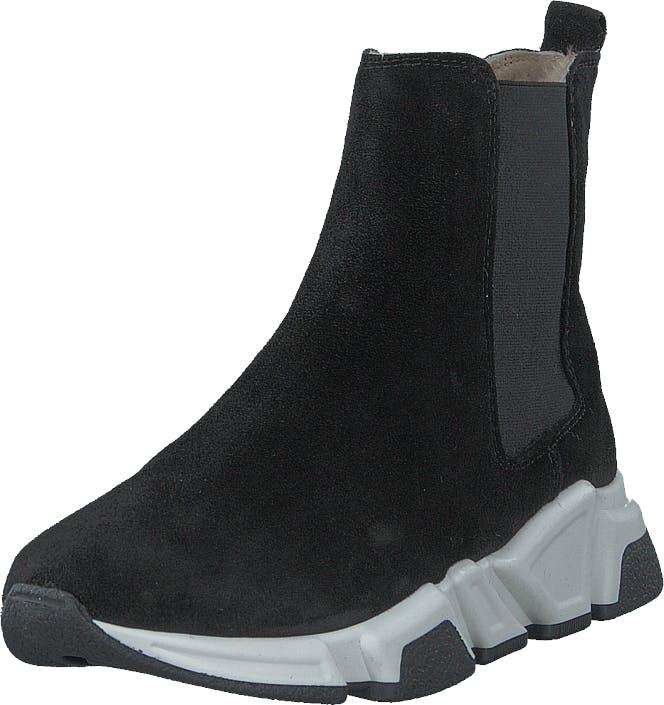 Billi Bi 14866 Black Babysilk Suede 500, Kengät, Bootsit, Chelsea boots, Musta, Naiset, 38