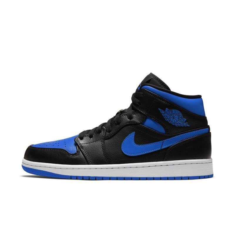 Nike Air Jordan 1 Mid Shoe - Black  - Male - Black - Koko: 9