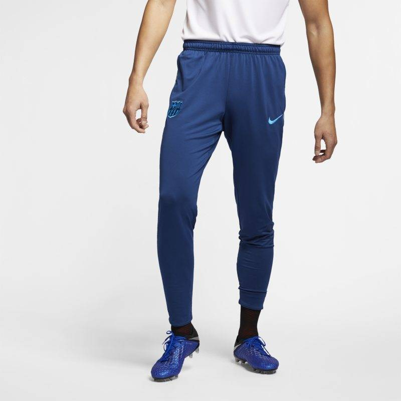 "Image of Nike ""FC Barcelona Dri-FIT Squad Men's Football Pants - Blue"""