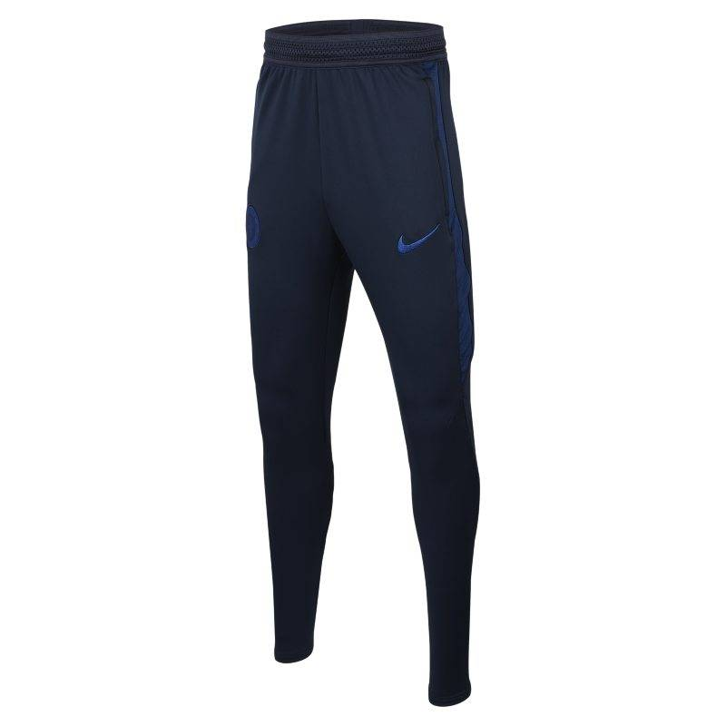 "Image of Nike ""Nike Dri-FIT Chelsea FC Strike Kids' Football Pants - Blue"""