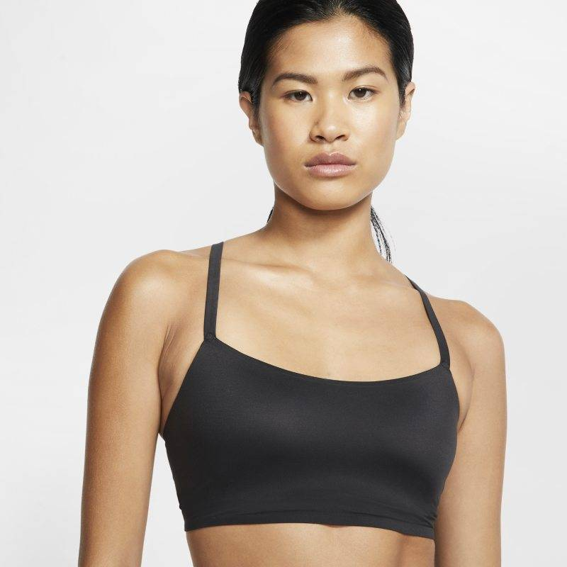"Image of Nike ""Nike Indy Luxe Women's Light-Support 1-Piece Pad Sports Bra - Black"""