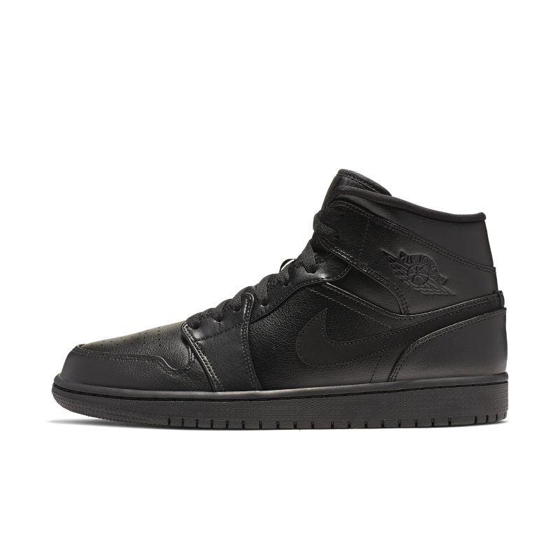 "Nike ""Air Jordan 1 Mid Shoe - Black"""
