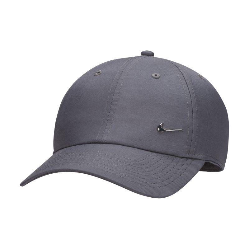 "Image of Nike ""Nike Metal Swoosh H86 Adjustable Hat - Grey"""