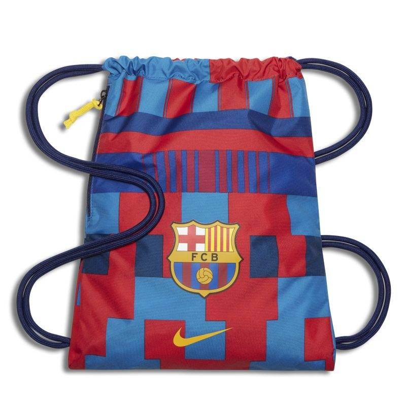 "Image of Nike ""FC Barcelona Stadium Football Gymsack - Red"""