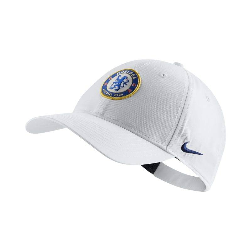 "Image of Nike ""Nike Dri-FIT Chelsea FC Legacy91 Adjustable Hat - White"""