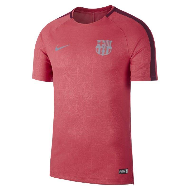 "Image of Nike ""FC Barcelona Dri-FIT Squad Men's Short-Sleeve Football Top - Pink"""
