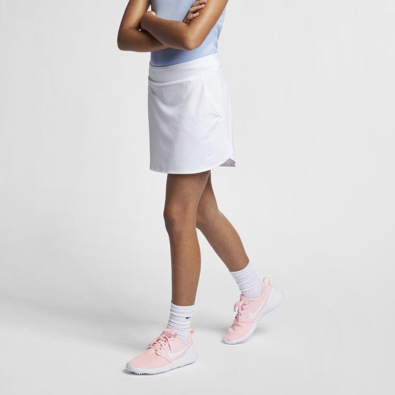 "Image of Nike ""Nike Dri-FIT Older Kids' (Girls') Golf Skirt - White"""