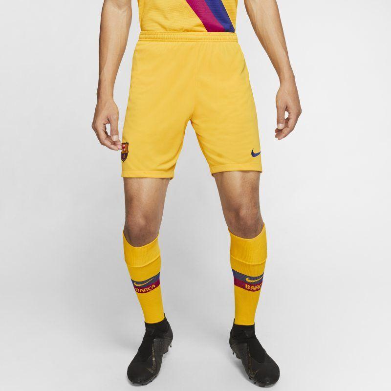 "Image of Nike ""FC Barcelona 2019/20 Stadium Home/Away Men's Football Shorts - Yellow"""