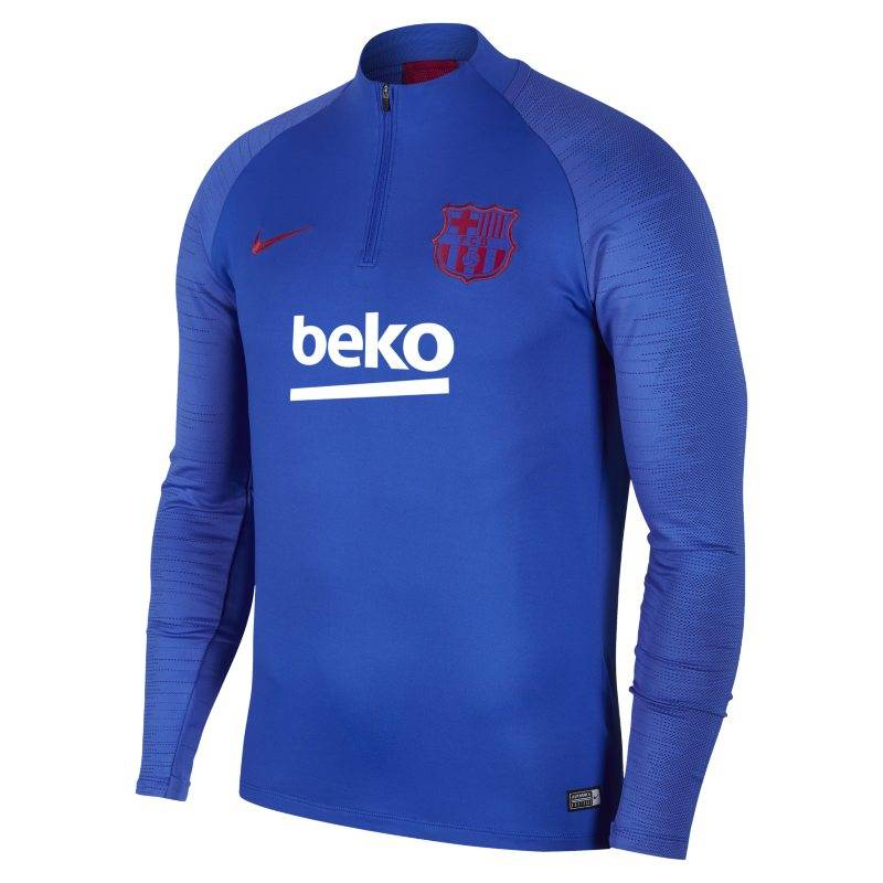 "Image of Nike ""Nike Dri-FIT FC Barcelona Strike Men's Football Drill Top - Blue"""