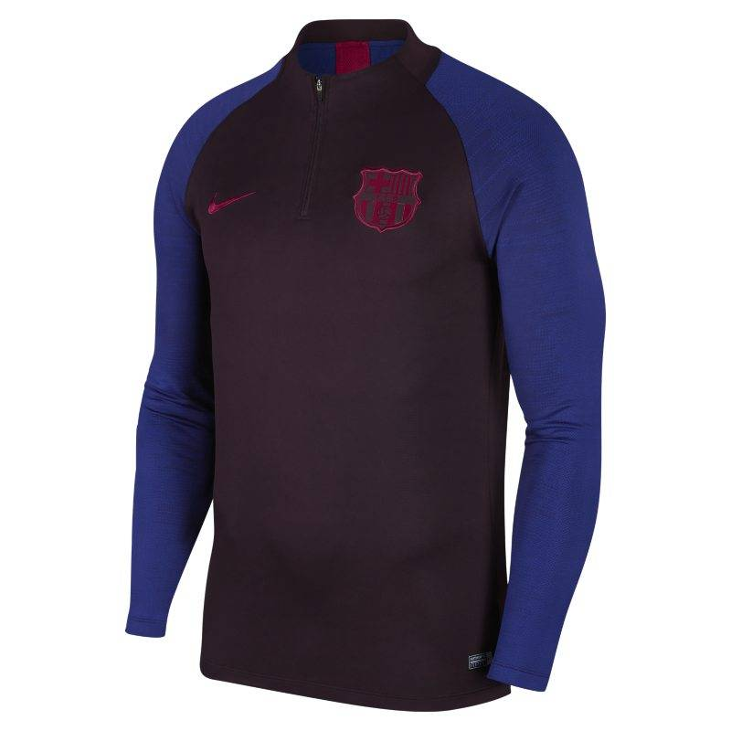 "Image of Nike ""Nike Dri-FIT FC Barcelona Strike Men's Football Drill Top - Purple"""