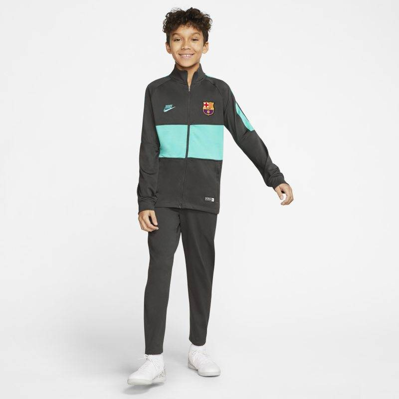"Image of Nike ""Nike Dri-FIT FC Barcelona Strike Older Kids' Football Tracksuit - Grey"""