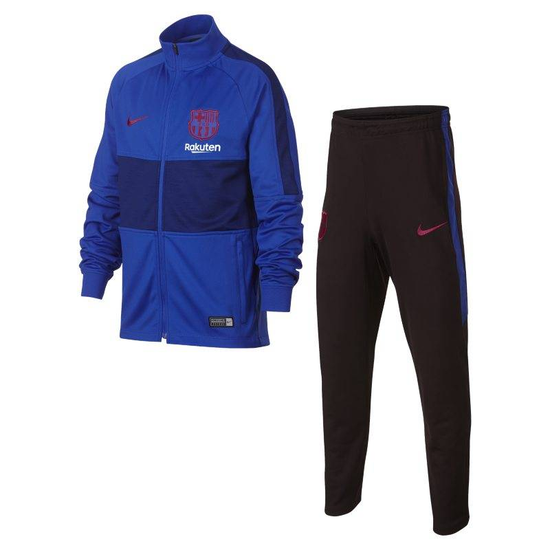 "Image of Nike ""Nike Dri-FIT FC Barcelona Strike Older Kids' Football Tracksuit - Blue"""