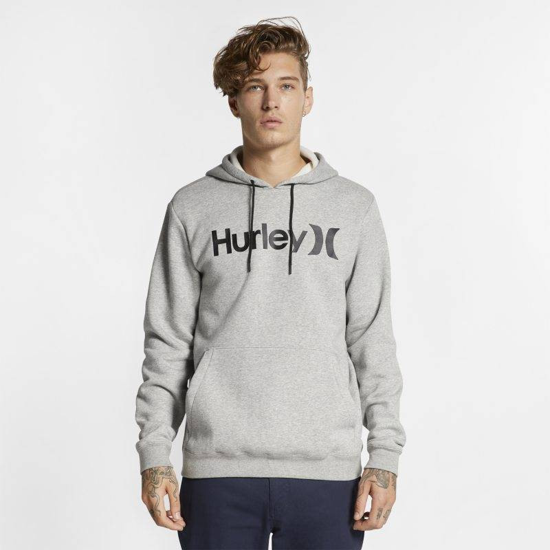 "Image of Nike ""Hurley Surf Check One And Only Men's Pullover Hoodie - Grey"""