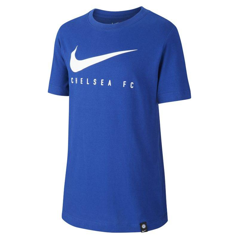 "Image of Nike ""Nike Dri-FIT Chelsea FC Older Kids' Football T-Shirt - Blue"""