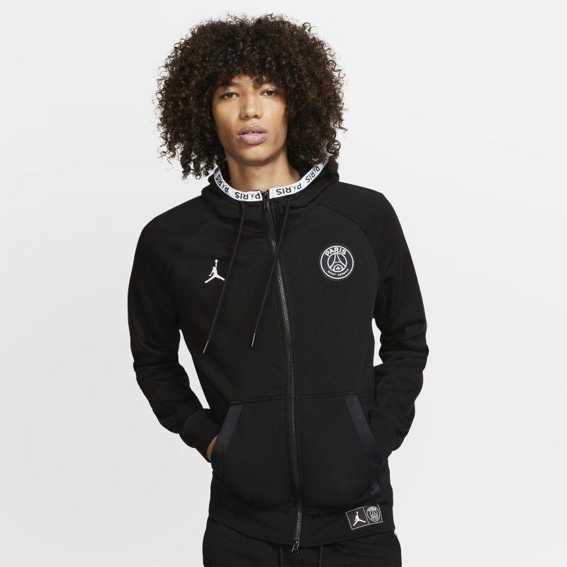 """Nike """"Paris Saint-Germain Black Cat Full-Zip Fleece Hoodie - Black"""""""