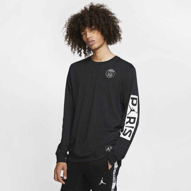 "Nike ""Paris Saint-Germain Long-Sleeve T-Shirt - Black"""
