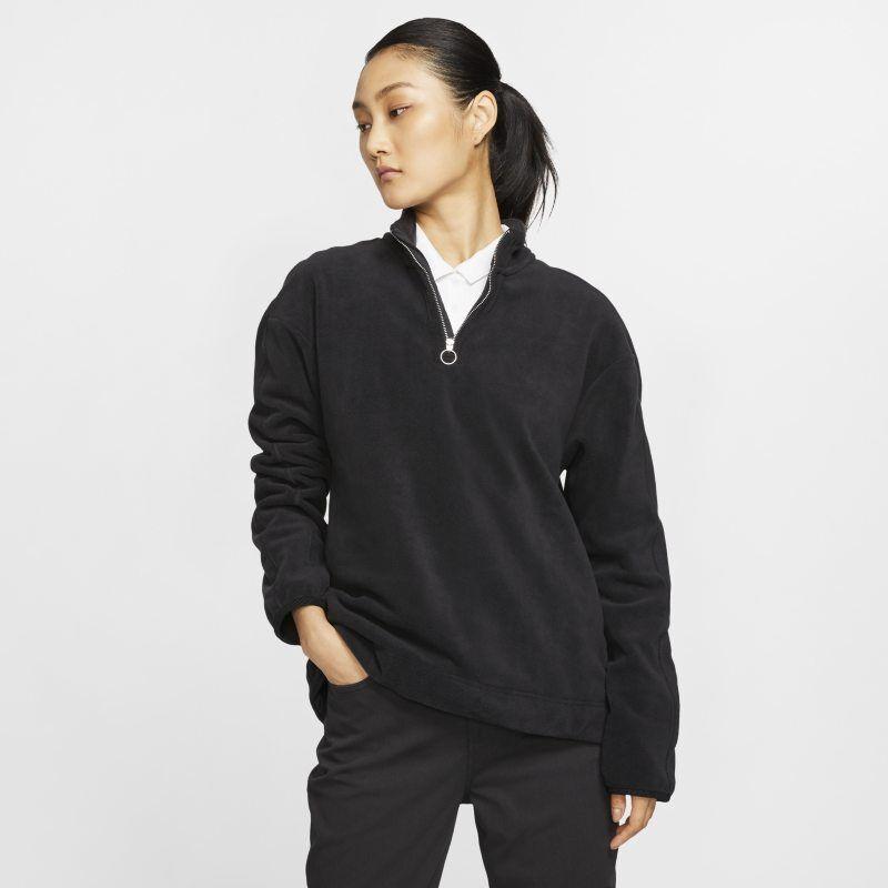 "Image of Nike ""Nike Therma Victory Women's 1/2-Zip Golf Top - Black"""