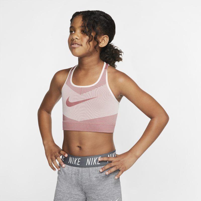"""Image of Nike """"Nike FE/NOM Older Kids' (Girls') Seamless Sports Bra - Pink"""""""