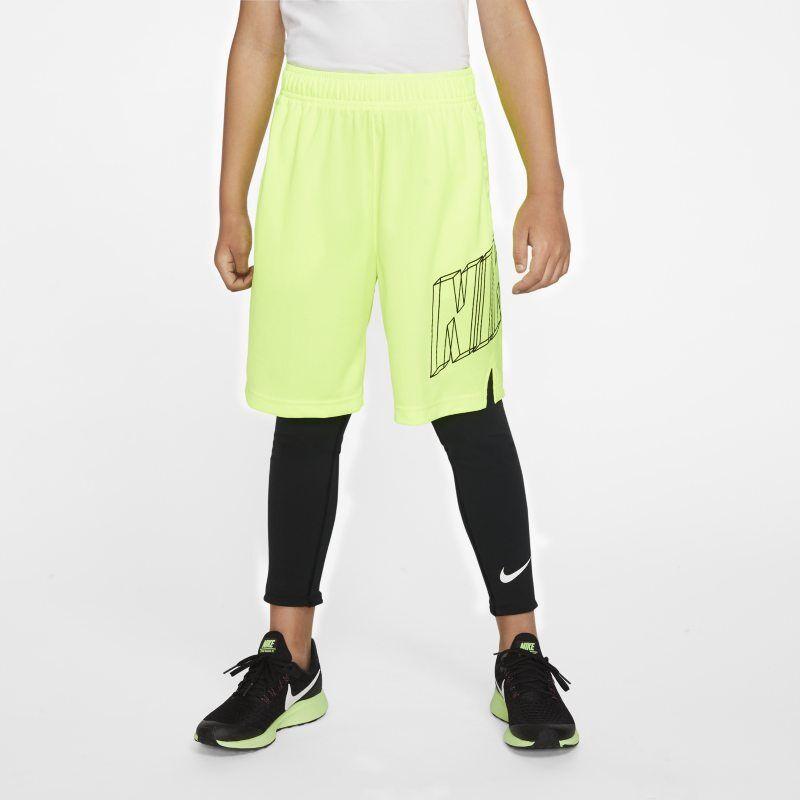 Image of Nike Pro Older Kids' (Boys') Training Tights - Black  - Male - Black - Koko: Small