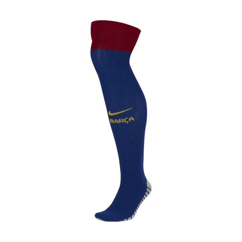 "Image of Nike ""FC Barcelona 2019/20 Stadium Home Over-the-Calf Football Socks - Blue"""
