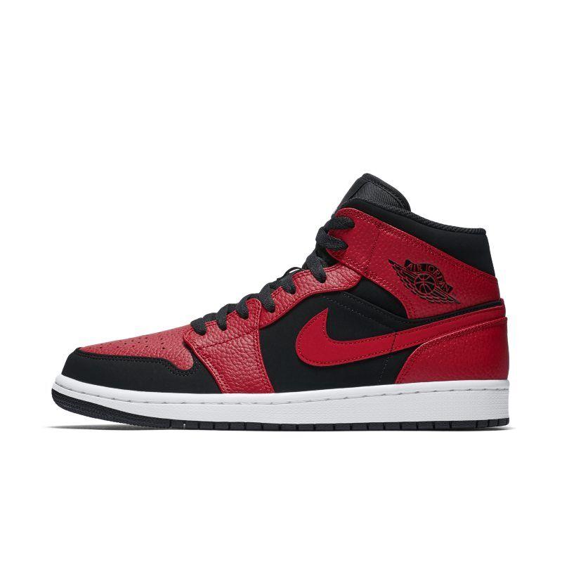 """Nike """"Air Jordan 1 Mid Shoe - Red"""""""