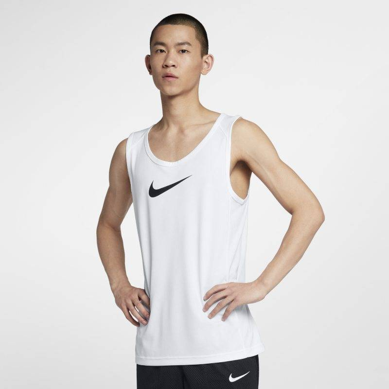 Image of Nike Dri-FIT Men's Basketball Top - White  - Male - White - Koko: 3X-Large