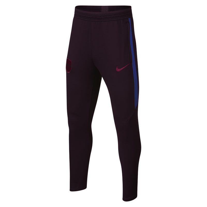 Image of Nike Dri-FIT FC Barcelona Strike Older Kids' Football Pants - Red  - Unisex - Red - Koko: Large