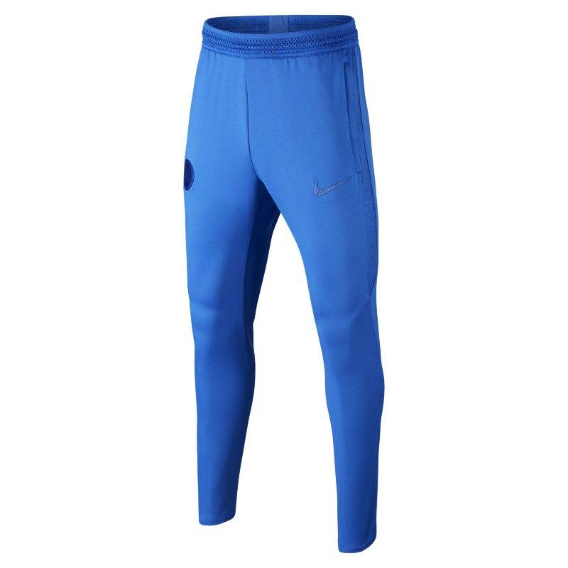 Image of Nike Dri-FIT Chelsea FC Strike Kids' Football Pants - Blue  - Unisex - Blue - Koko: Extra Large