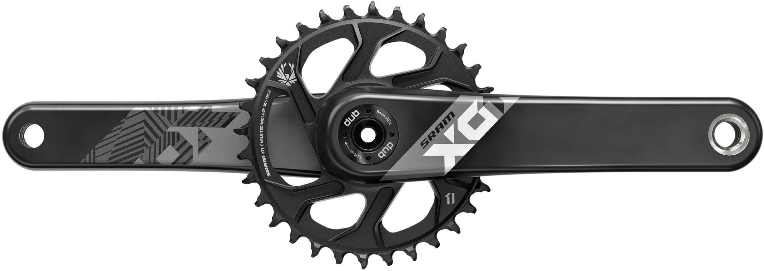 """SRAM Vevparti SRAM X01 Eagle Fat Bike 5"""""""" 1 x 12 växlar DUB direct mount 30T 175 mm svart/svart"""