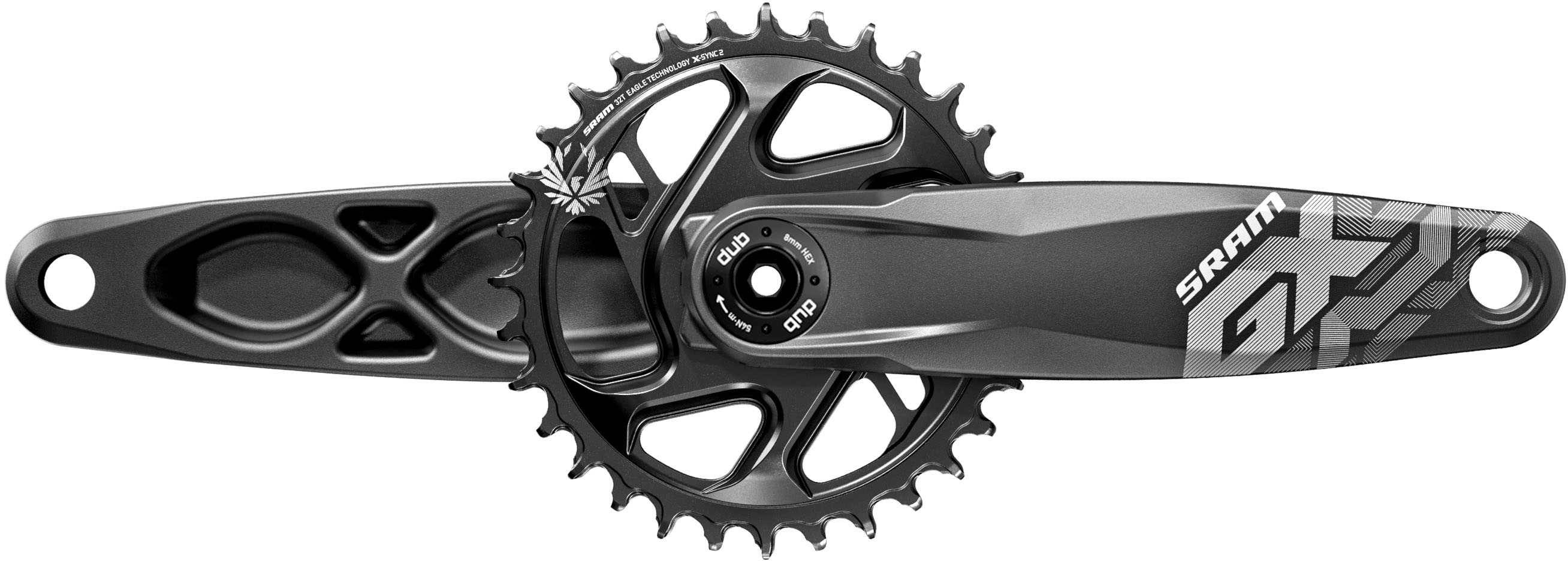 """SRAM Vevparti SRAM GX Eagle Fat Bike 5"""""""" 1 x 12 växlar DUB direct mount 30T 165 mm svart"""