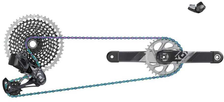 SRAM Komponenttisarja SRAM X01 Eagle AXS DUB 1 x 12 vaihteinen 170 mm 32T