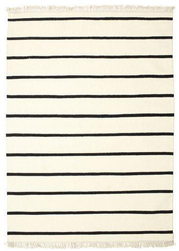 RugVista Dorri Stripe - Valkoinen / Musta -matto 160x230 Itämainen Matto
