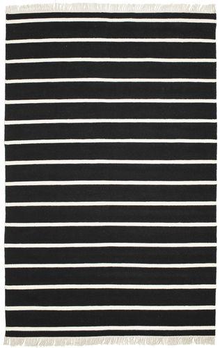 RugVista Dorri Stripe - Musta / Valkoinen -matto 190x290 Itämainen Matto