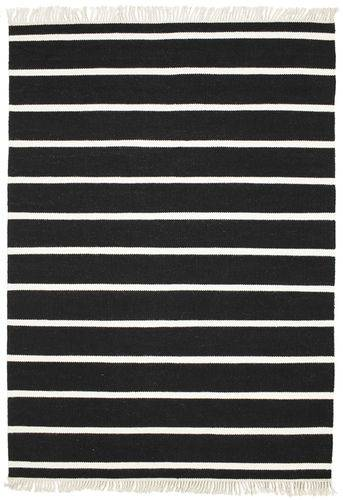 RugVista Dorri Stripe - Musta / Valkoinen -matto 160x230 Itämainen Matto