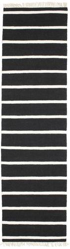 RugVista Dorri Stripe - Musta / Valkoinen -matto 80x300 Itämainen, Eteisen Matto