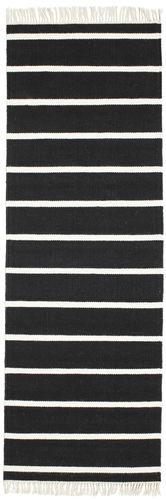 RugVista Dorri Stripe - Musta / Valkoinen -matto 80x250 Itämainen, Eteisen Matto
