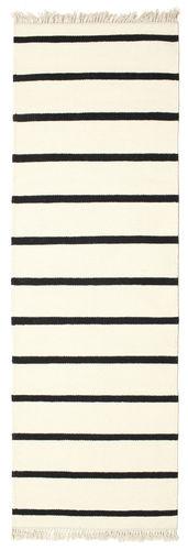 RugVista Dorri Stripe - Valkoinen / Musta -matto 80x250 Itämainen, Eteisen Matto
