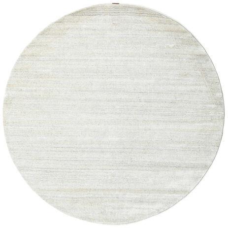 RugVista Bamboo silkki Loom - Vaalea Natural -matto  Ø 200 Moderni, Pyöreä Matto